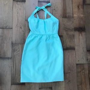 J. Crew Cotton Cady Madeleine Dress in Fresh Mint